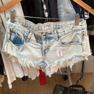 One Teaspoon Jean shorts!